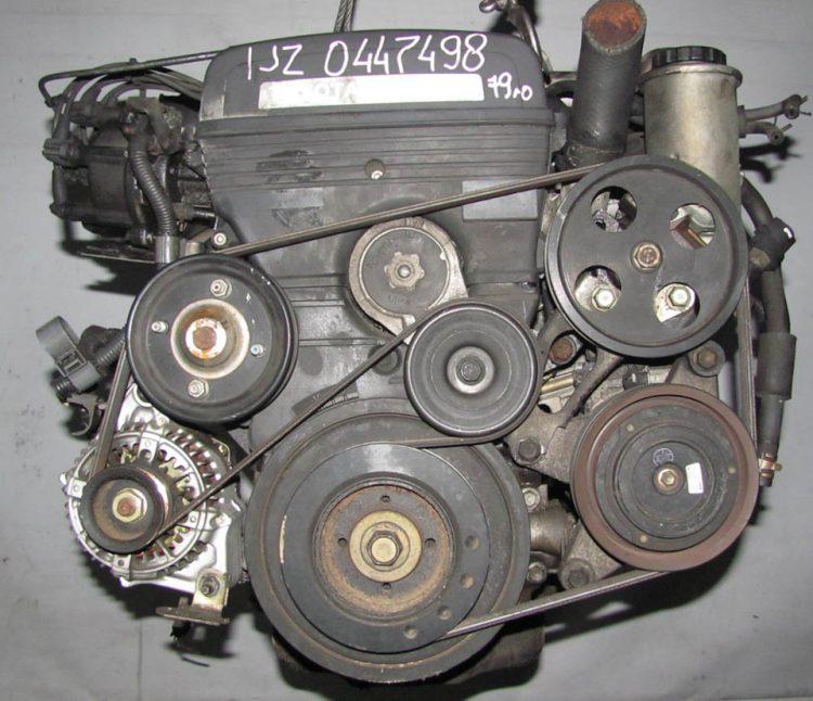 Расположение обводного ремня на двигателе 1JZ